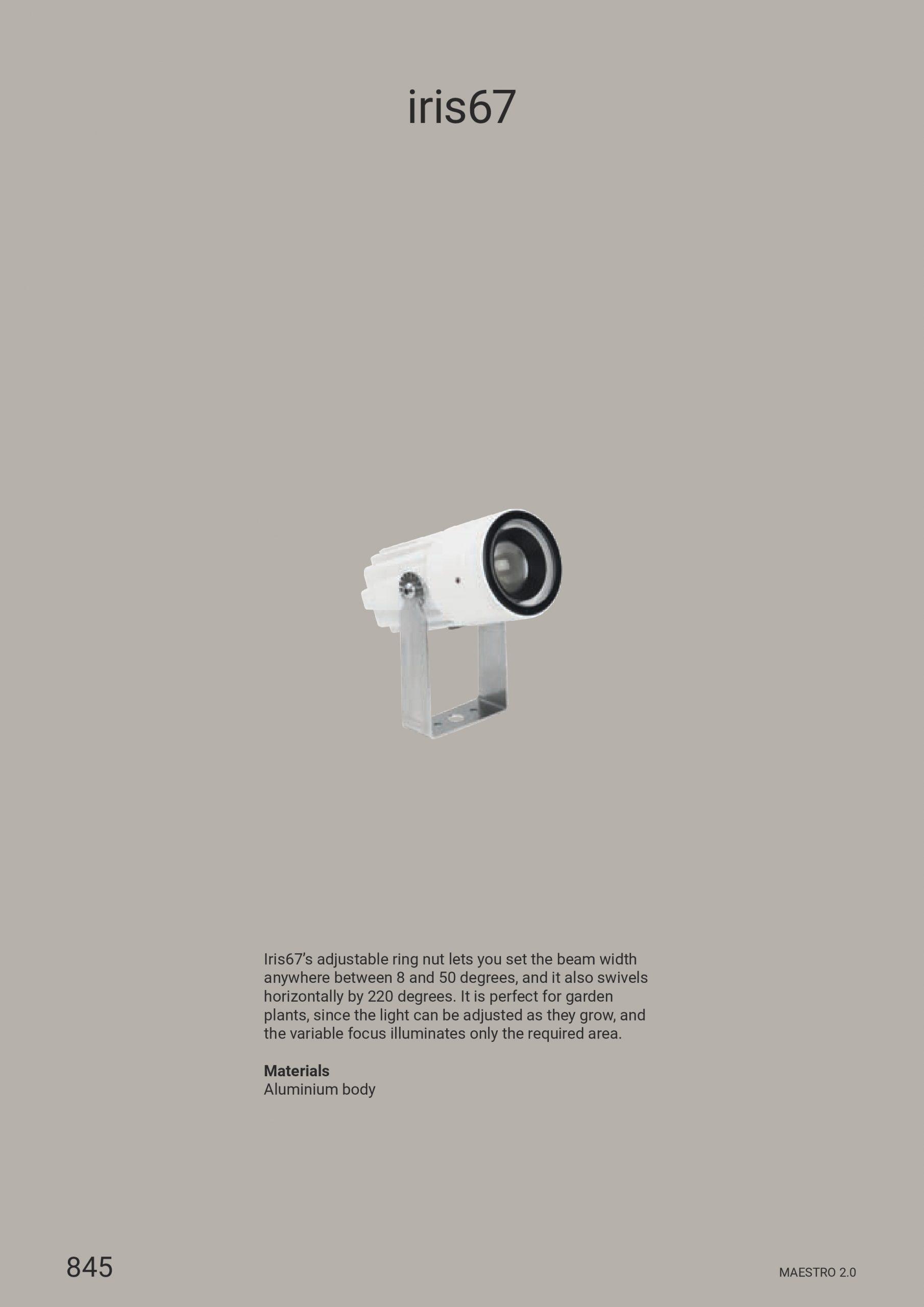 Linea Light – Iris67 Adjustable Optics